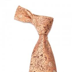 Blomstret silkeslips i kobber med kobber mønster
