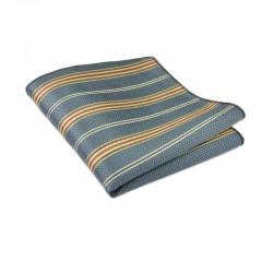 Flot petroleumsfarvet lommetørklæde. De douce og klassiske farver bliver løftet på flotteste vis af den høje glans.